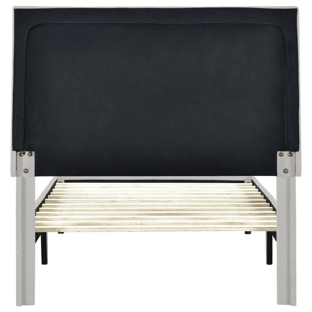 Accentric Approach Twin Horizontal Channeled Platform in Gray, , large
