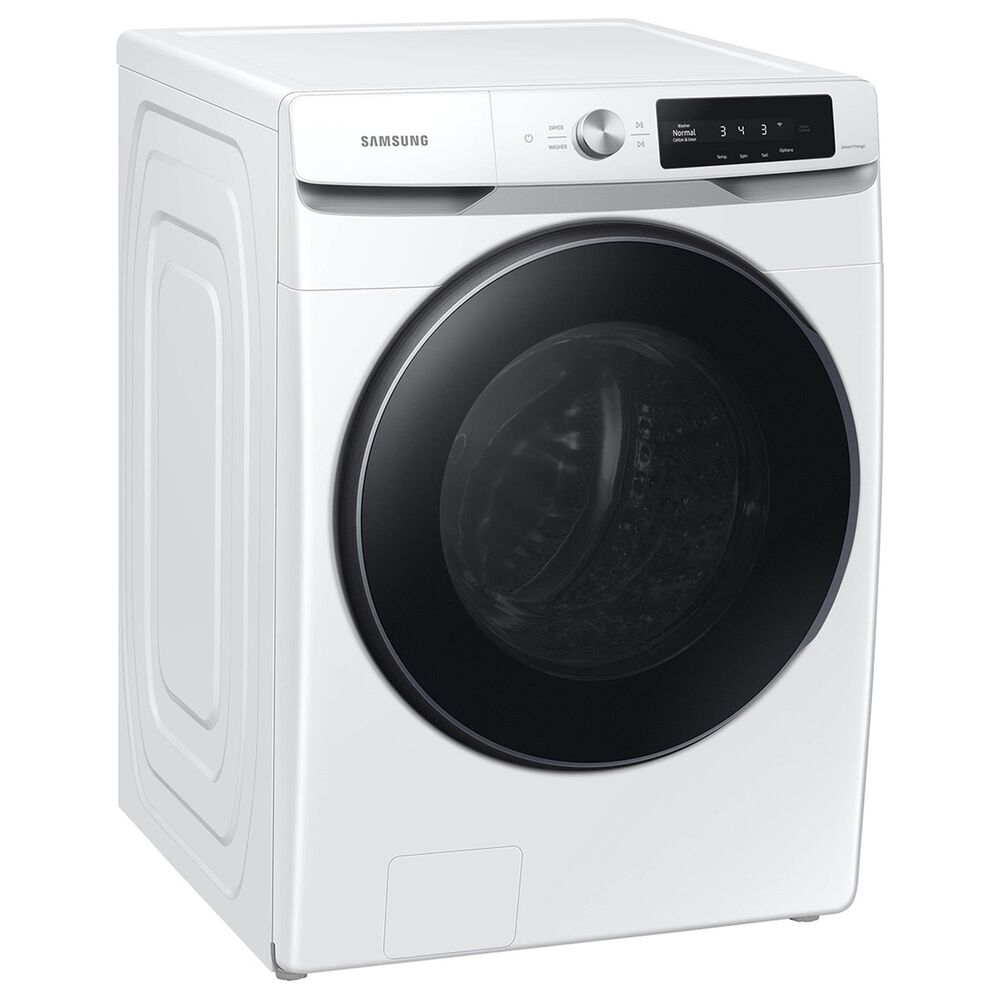 Samsung 4.5 Cu. Ft. Smart Dial Front Load Washer with 7.5 Cu. Ft. Electric Dryer and Stacking Kit in White, , large
