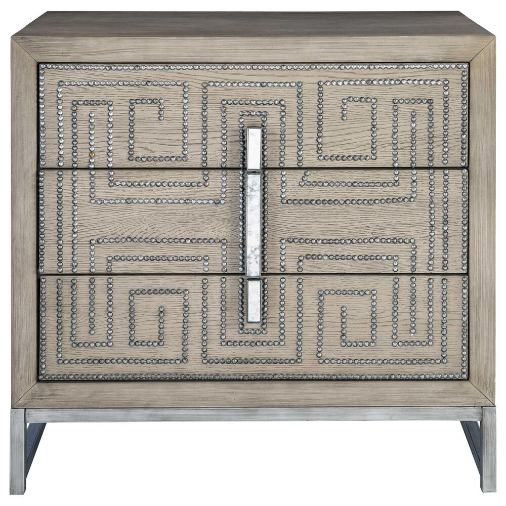 Uttermost Devya Accent Chest in Light Grey Brown, , large