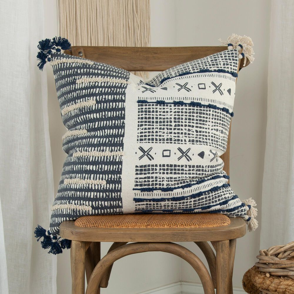 """Rizzy Home Donny Osmond 20"""" Poly Filled Pillow in Navy, , large"""