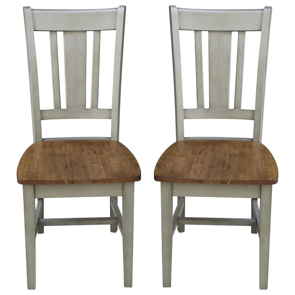 International Concepts San Remo Dining Chair in Hickory/Stone, , large