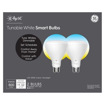 C by GE Tunable White Smart Bulbs (2 LED BR30 Indoor Floodlight Bulbs), 65W Replacement, Bluetooth Enabled, Works with Google Assistant Without A Hub, Works with Alexa and HomeKit With Hub, , large