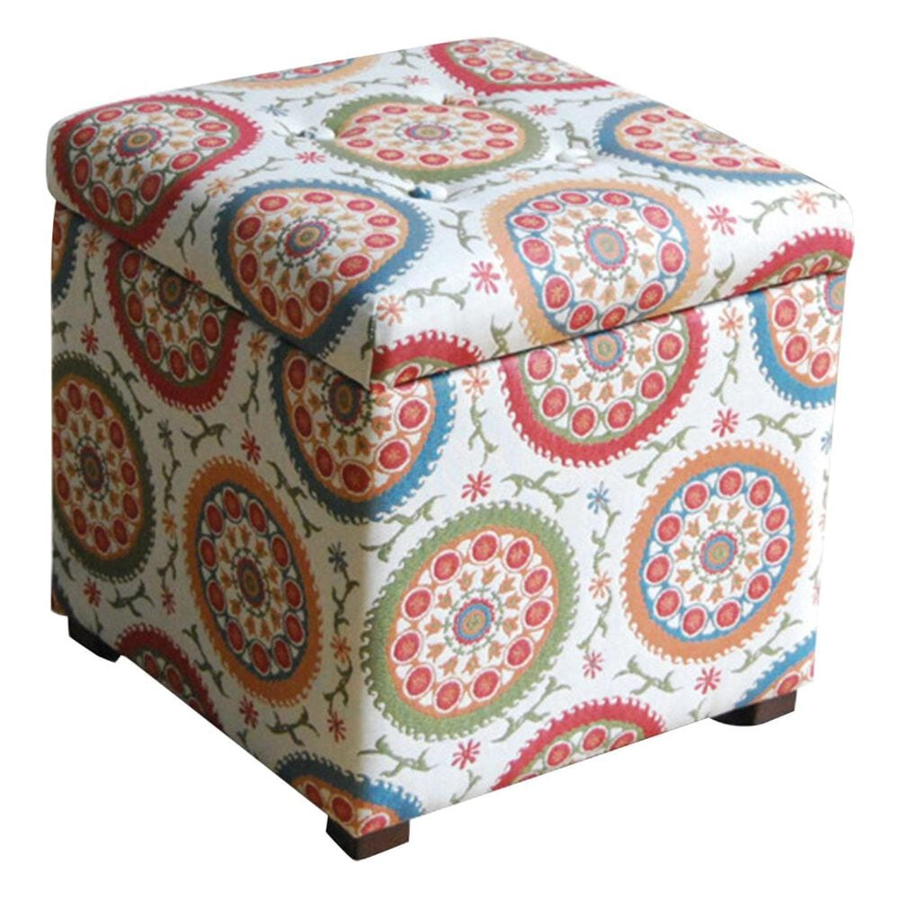 Kinfine Storage Ottoman in Multicolor, , large