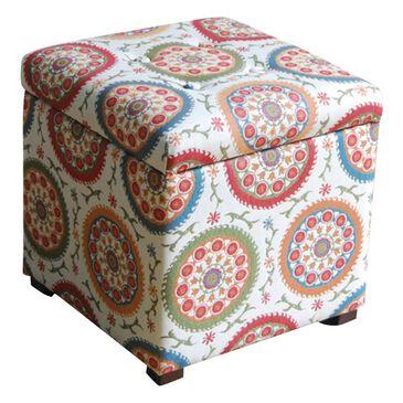 Kinfine Storage Ottoman in Multicolor, , large