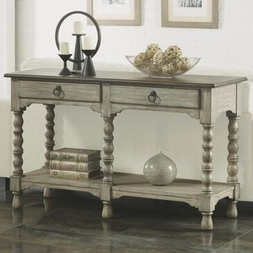 Flexsteel Plymouth Sofa Table with Drawers in Whitewash, , large