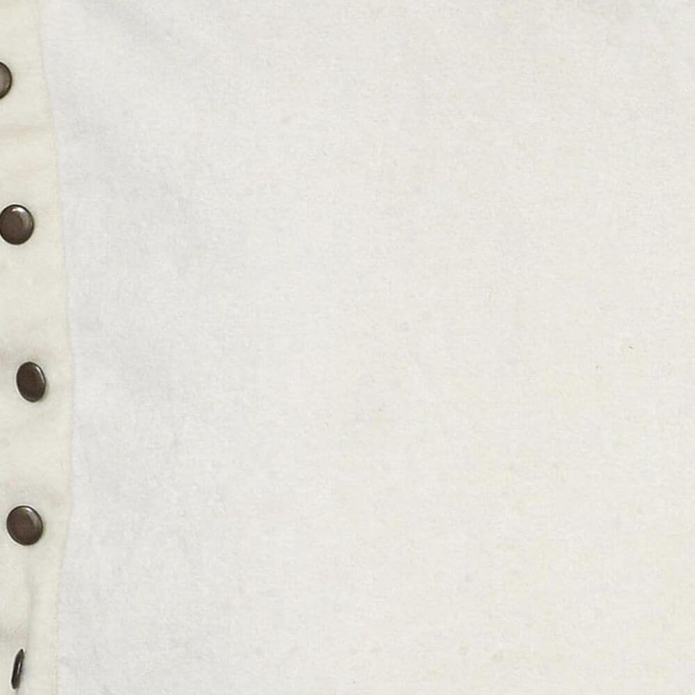 """Rizzy Home 18"""" x 18"""" Pillow Cover in White with Buttons on the Edge, , large"""