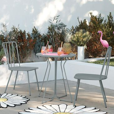 DHP Poolside Gossip 3-Piece Patio Bistro Set in Light Gray, , large