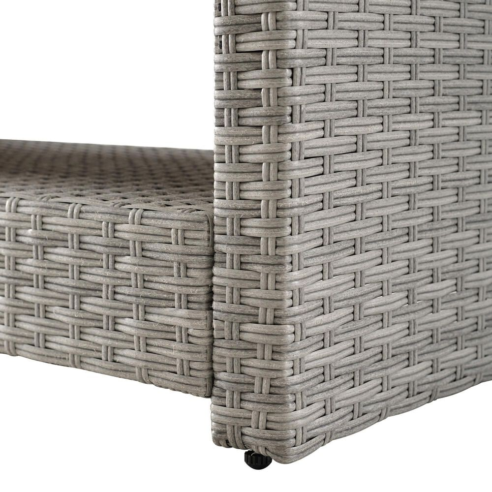 Accentric Approach Patio Loveseat & Table in Gray, , large