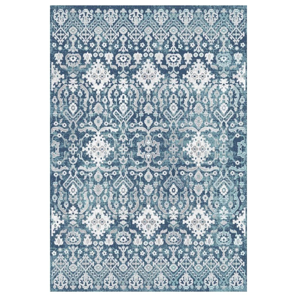"Central Oriental Sientan Wali 2522.260 5'3"" x 7'3"" Dark Blue and Grey Area Rug, , large"