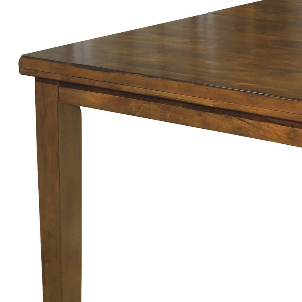 Signature Design by Ashley Rectangular Butterfly Extension Table in Medium Brown - Table Only, , large