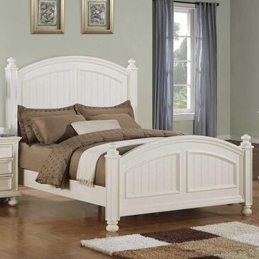 Bakersfield Cape Cod Queen Panel Bed in Eggshell White, , large
