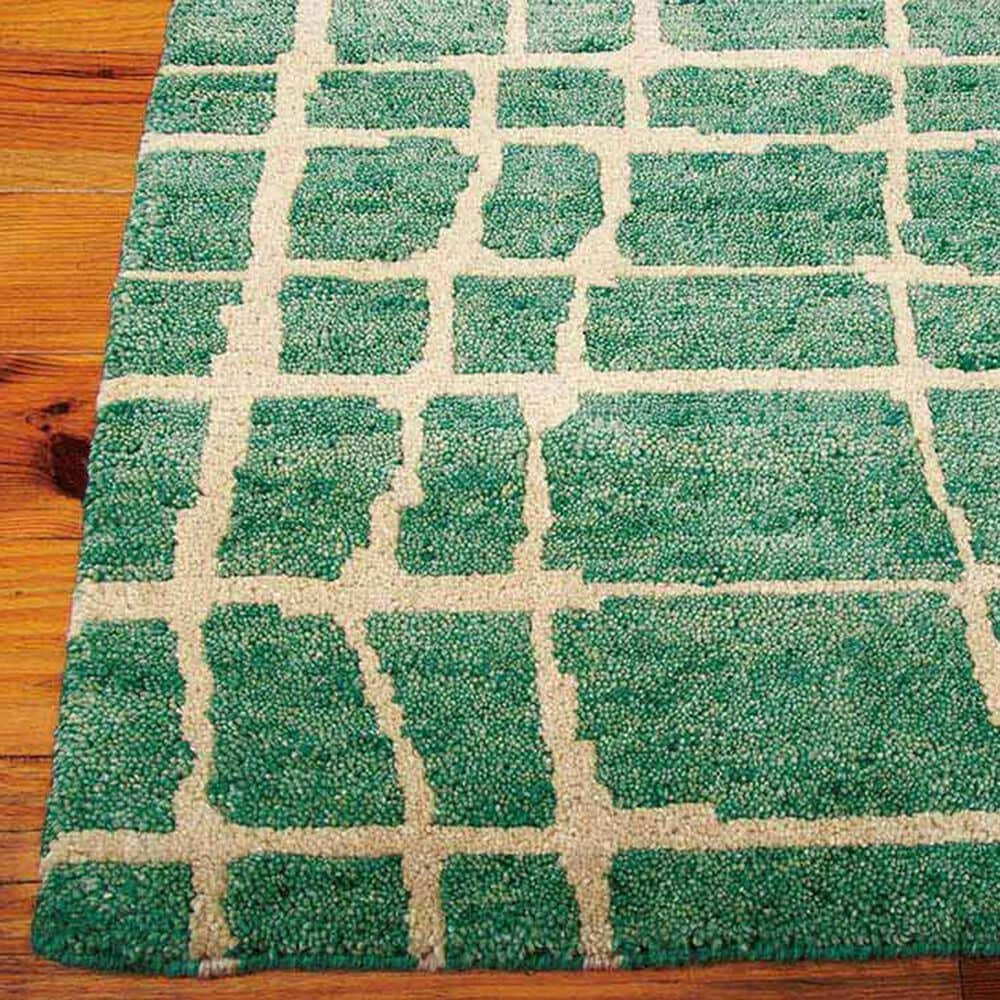 """Nourison Tahoe Modern MTA03 8'6"""" x 11'6"""" Turquoise and Green Area Rug, , large"""
