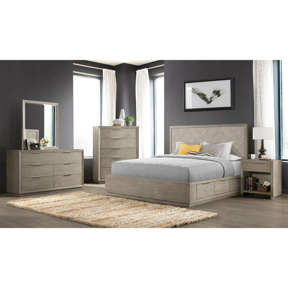 Shannon Hills Zoey 4 Piece King Storage Bedroom Set in Urban Gray and Light Gray, , large