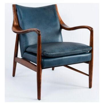 Classic Concepts Kiannah Accent Chair in Blue Leather, , large