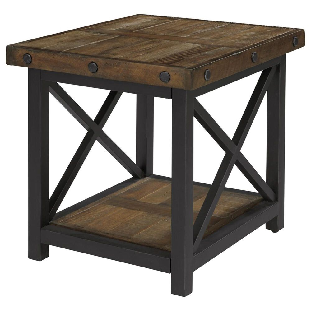 at HOME Carpenter End Table in Oiled Oak, , large