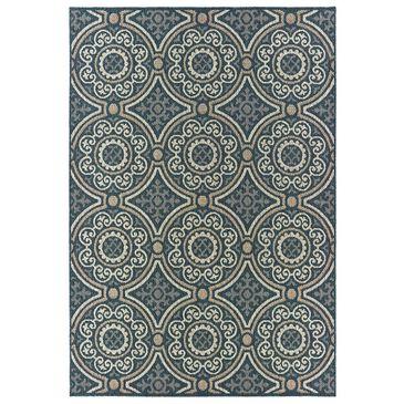 "Oriental Weavers Latitude 609B 1'10"" x 7'6"" Blue Runner, , large"