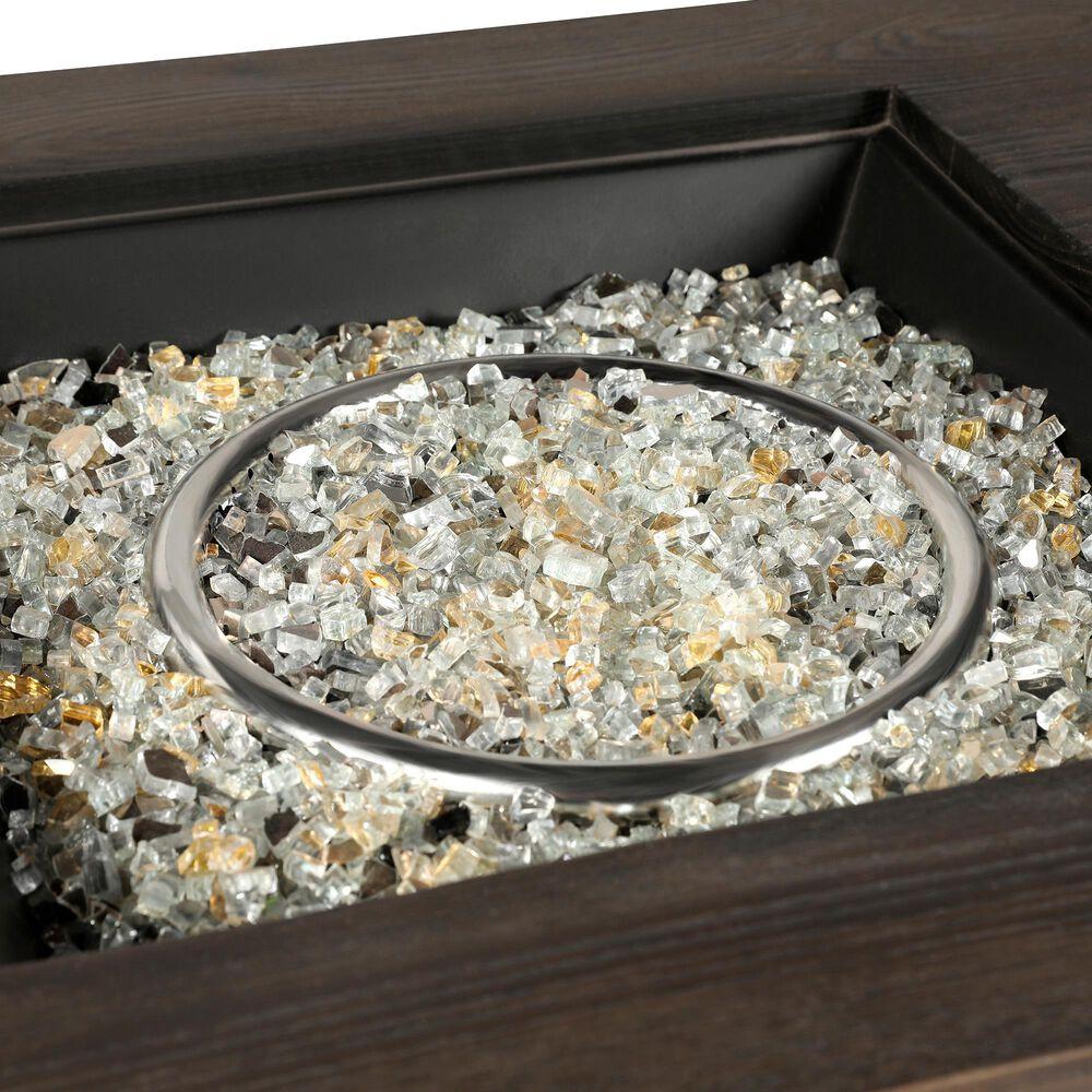 Lexora Home Melardo Rectangle Fire Pit Table in Brown, , large