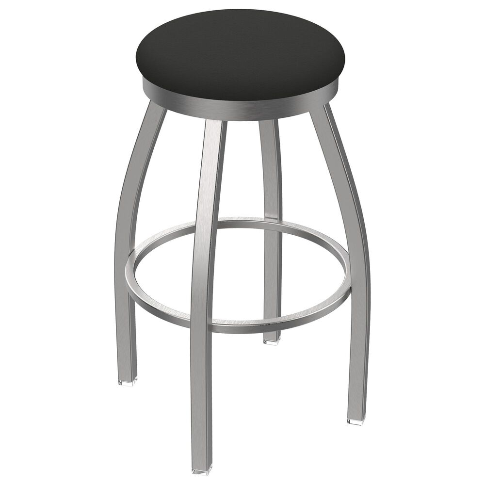"""Holland Bar Stool 802 Misha 25"""" Swivel Counter Stool with Stainless and Canter Iron Seat, , large"""