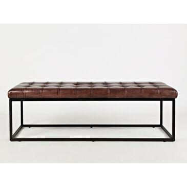 37B Global Archive Leather Bench, , large