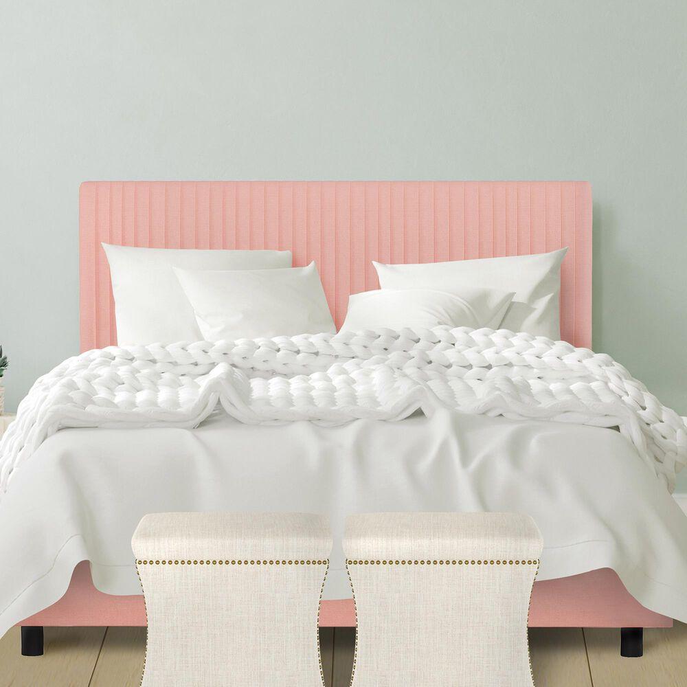 Skyline Furniture Kensington King Bed in Linen Petal, , large