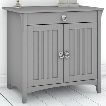 Bush Salinas Secretary Desk with Keyboard Tray & Cabinet in Cape Cod Gray, , large