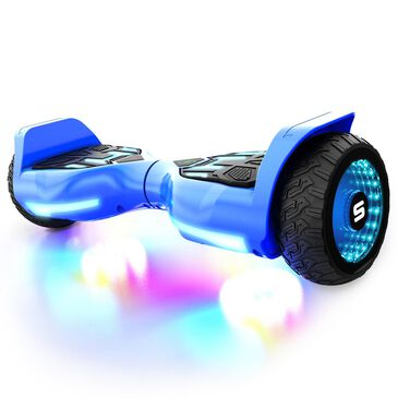 Swagtron Swagboard T580 Warrior Bluetooth Hoverboard with Music-Synced Ground FX Lighting in Blue, , large