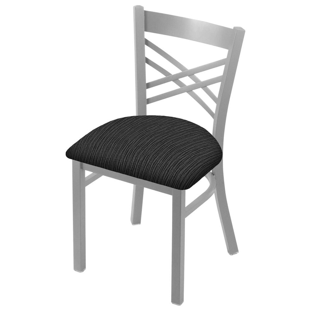 """Holland Bar Stool 620 Catalina 18"""" Chair with Anodized Nickel and Graph Coal Seat, , large"""