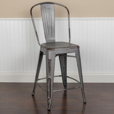 "Flash Furniture 24"" Counter Stool in Gray, , large"