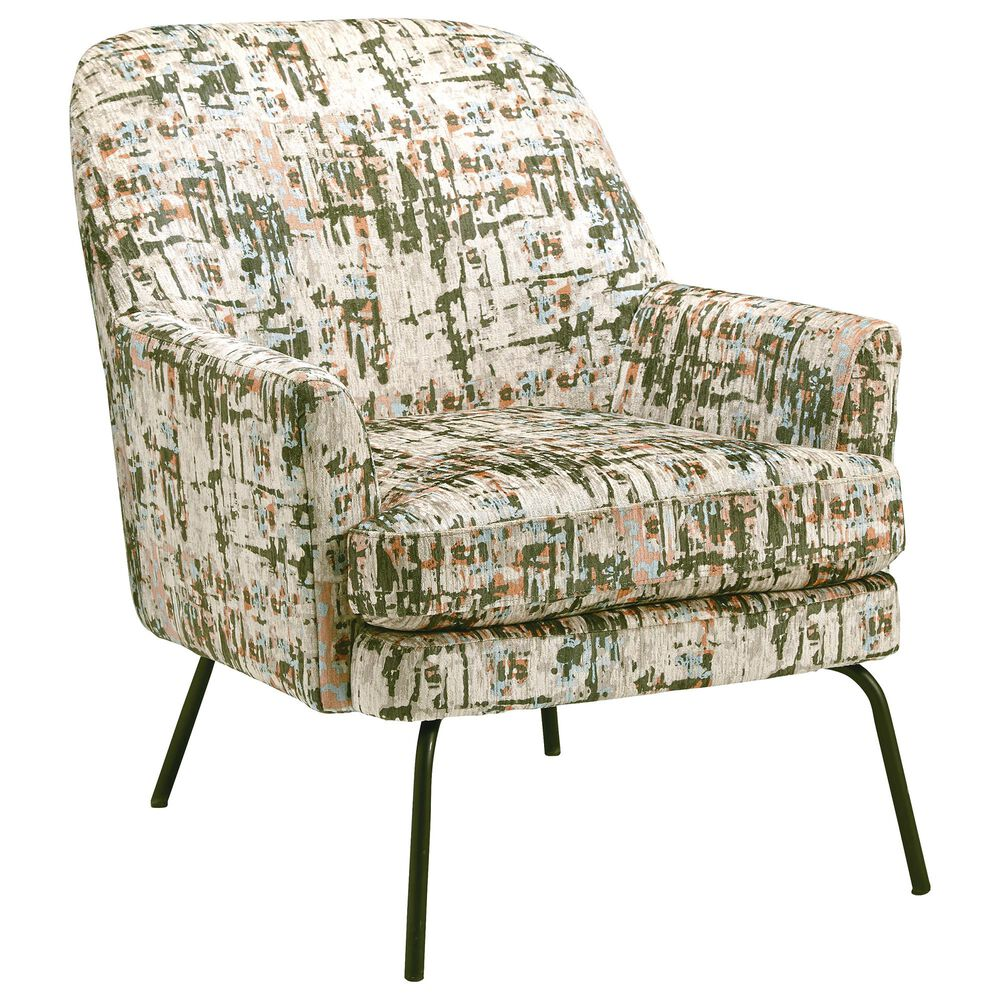 Signature Design by Ashley Dericka Accent Chair in Beige and Green, , large