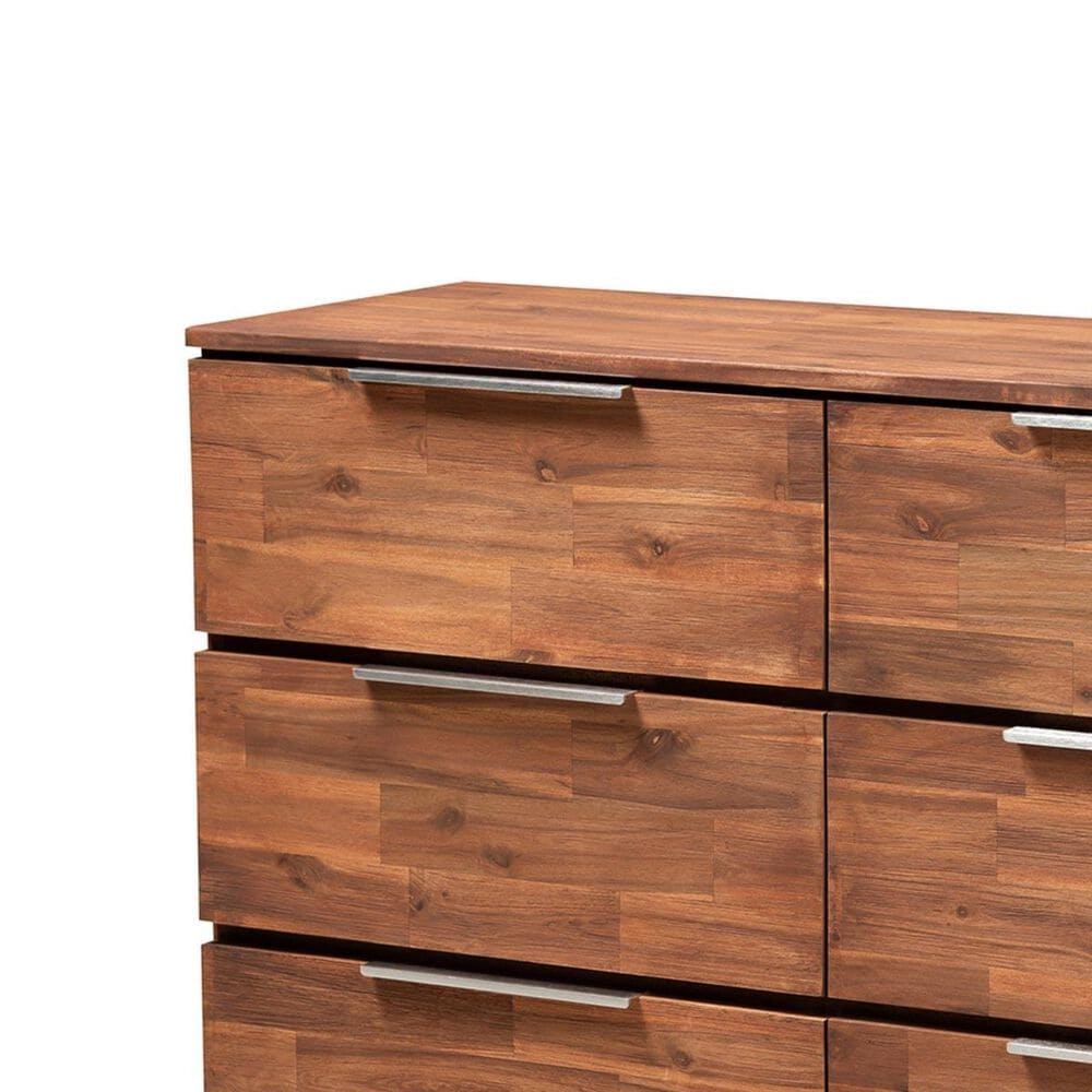 Baxton Studio Austin 6 Piece Dresser in Golden Oak, , large