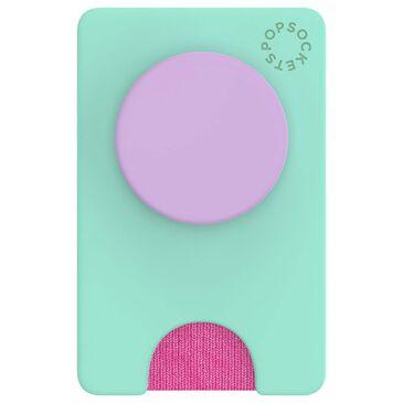 PopSockets Popwallet Plus with Popgrip - Color Block Ultra Mint, , large