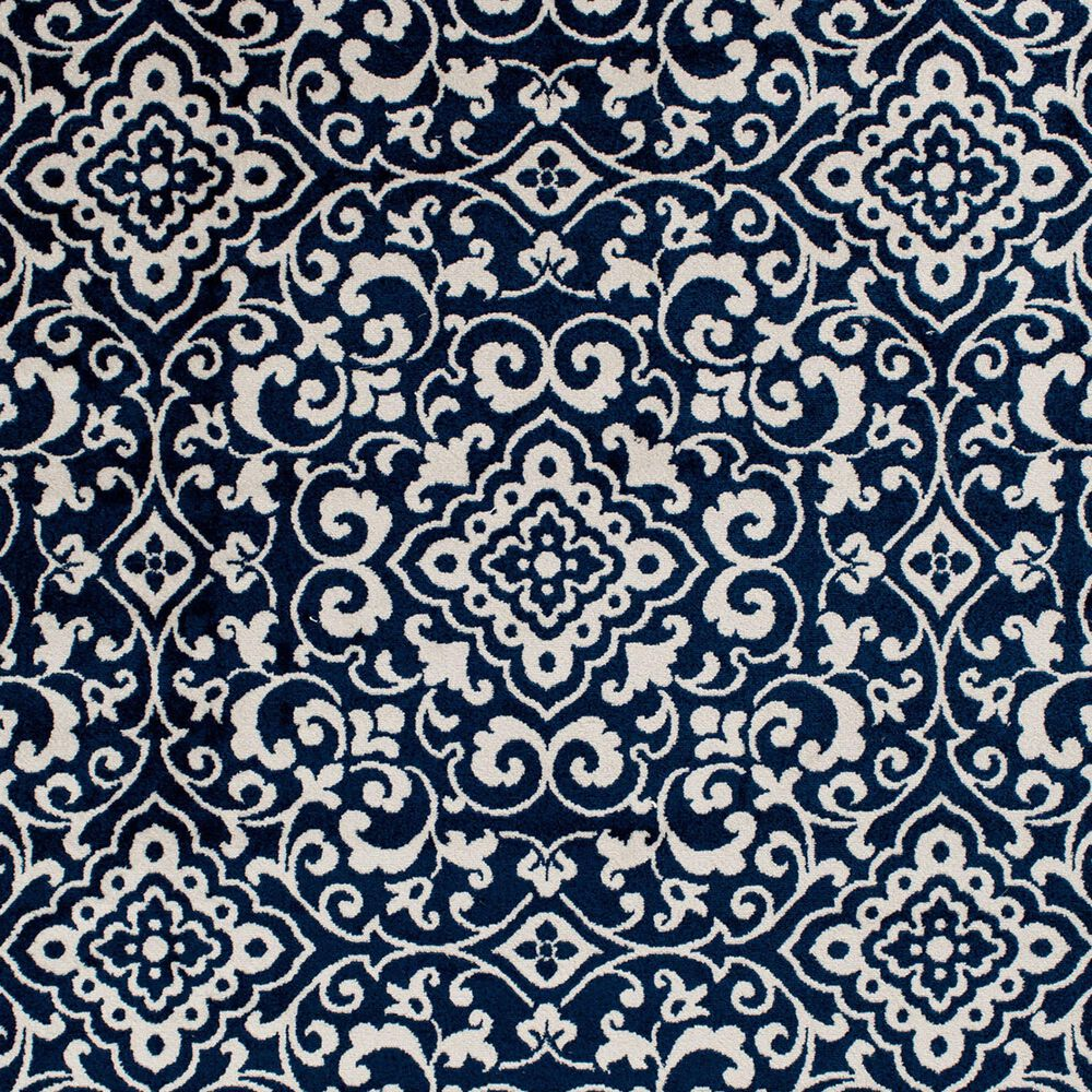 "Central Oriental Terrace Tropic Mcbee 2302PN.084 9'10"" x 12'10"" Sapphire and Snow Area Rug, , large"