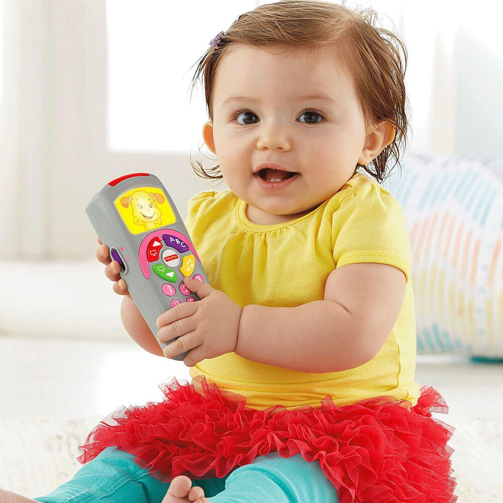 Fisher-Price Laugh and Learn Sis Remote Toy, , large