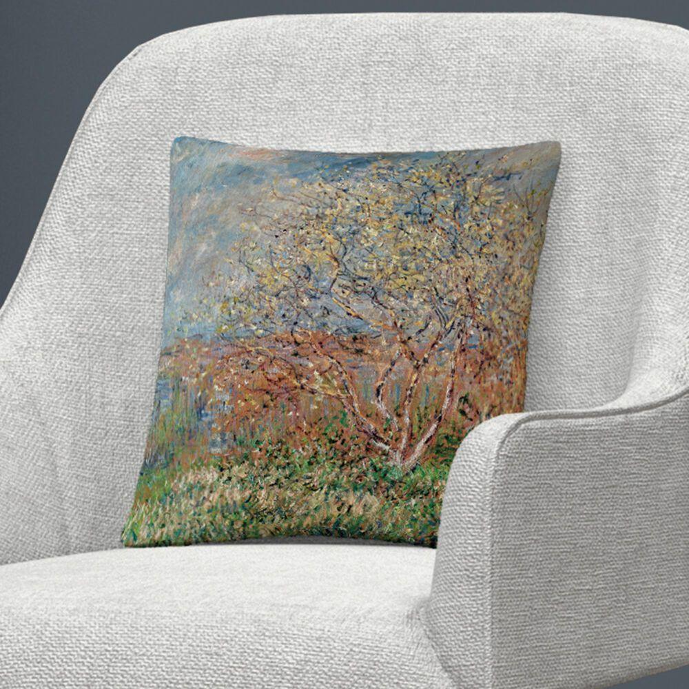 Timberlake Claude Monet 'Spring 1880' 16 x 16 Decorative Throw Pillow, , large
