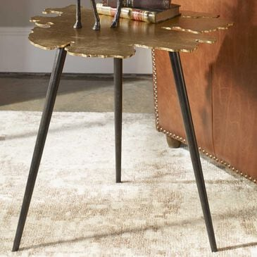 Uttermost Linden Accent Table in Gold, , large