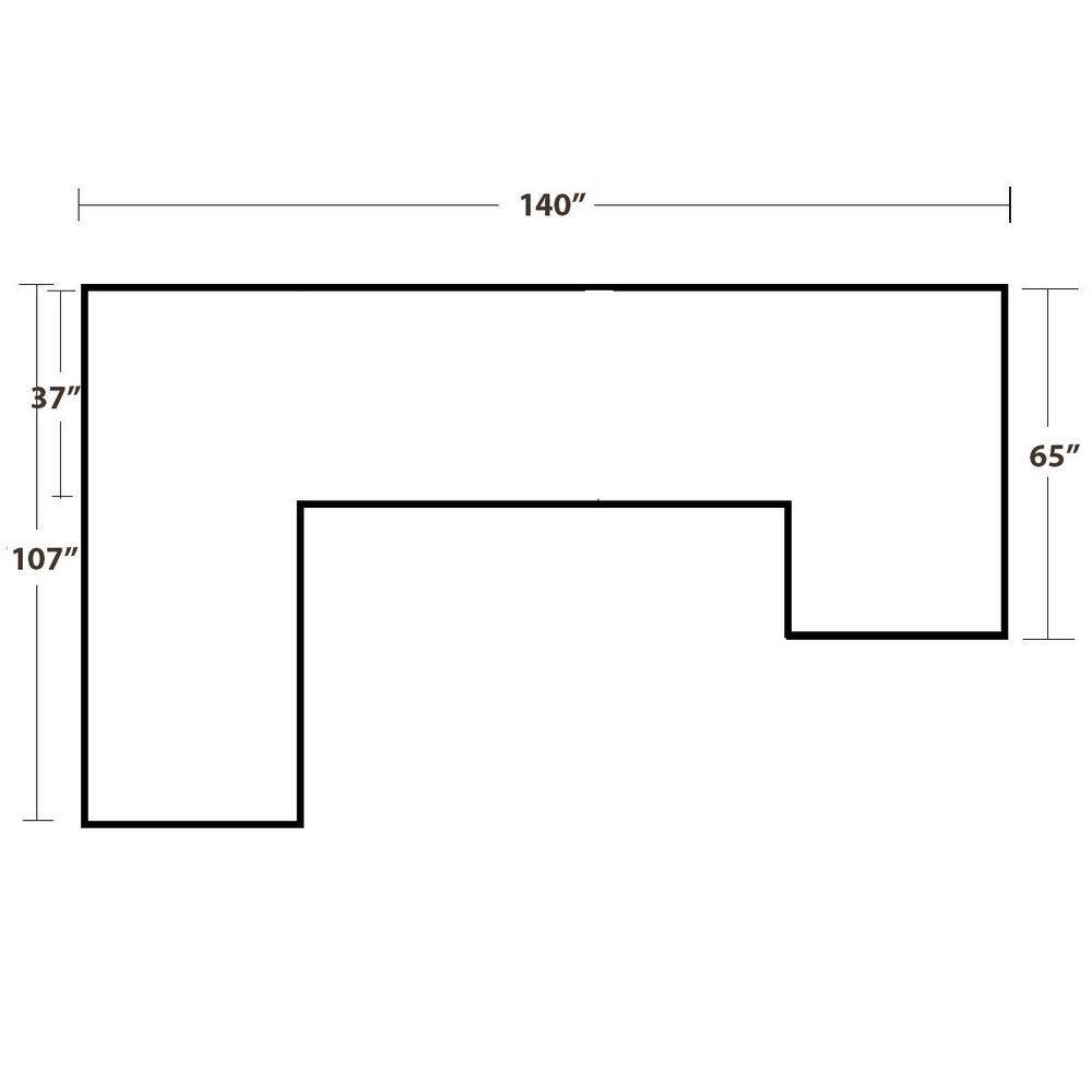 Jonathan Louis Belaire 6-Piece Modular U-Shaped Sectional in Caprice Granite, , large