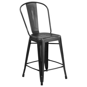 "Flash Furniture 24"" Counter Stool in Black, , large"