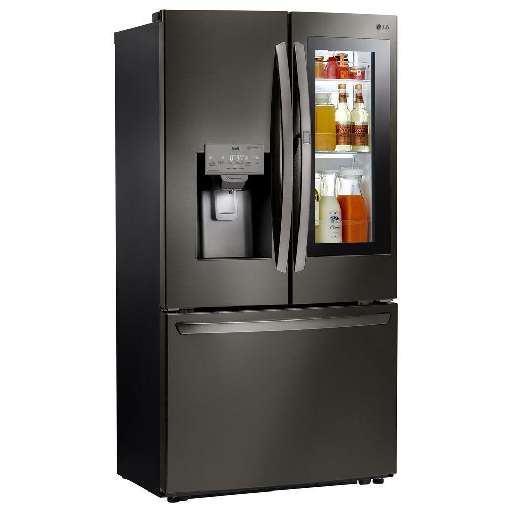 LG 26 Cu. Ft. Smart Wi-Fi Enabled InstaView Door-in-Door Refrigerator in Black Stainless Steel , , large