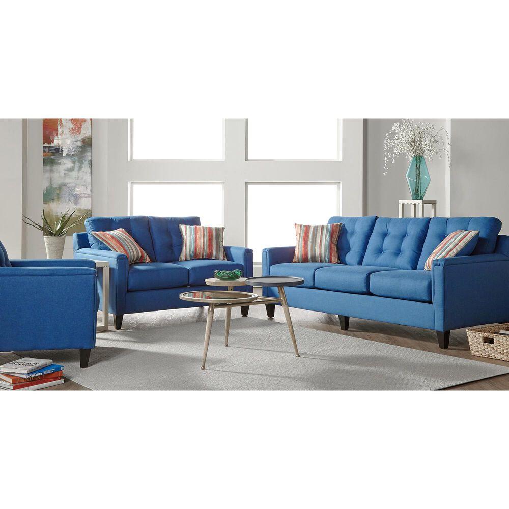Hughes Furniture Loveseat in Jitterbug Denim, , large