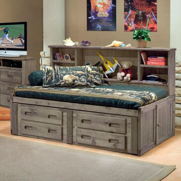 Timber Point Bunkhouse Full Roomsaver Bed in Driftwood Gray, , large