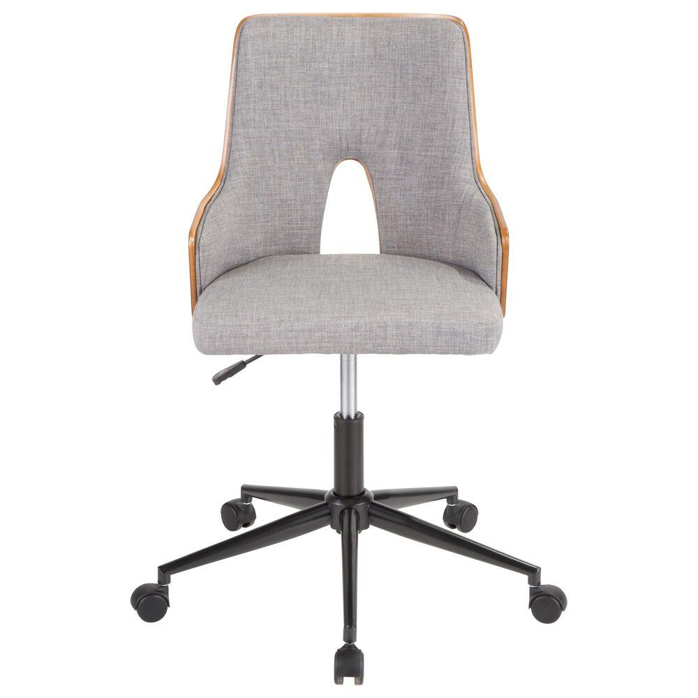 Lumisource Stella Office Chair in Grey/Walnut/Black, , large