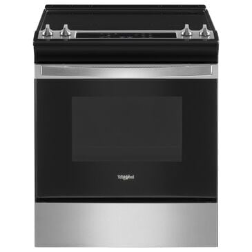 Whirlpool 4.8 Cu. Ft. Electric Range with Frozen Bake in Stainless Steel, , large