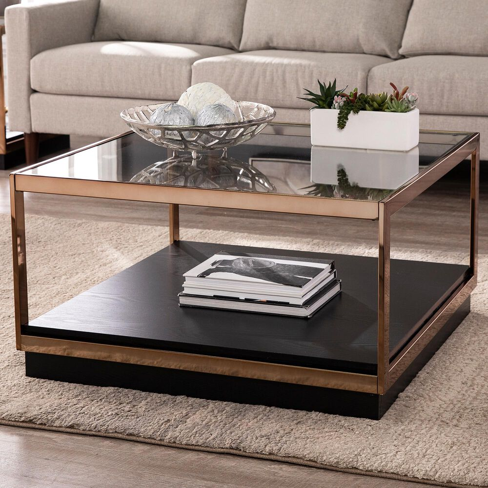 Southern Enterprises Lexina Coffee Table in Champagne and Black, , large