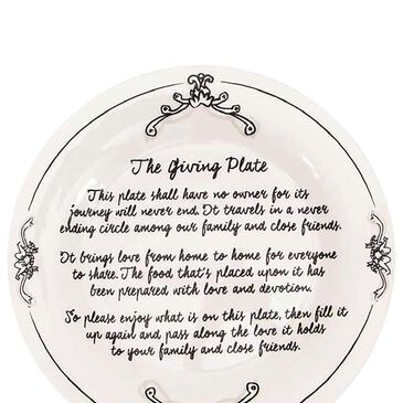 "Home Essentials & Beyond 10.5"" Giving Plate in White, , large"