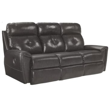 La-Z-Boy Leather Reclining Sofa in Charcoal, , large