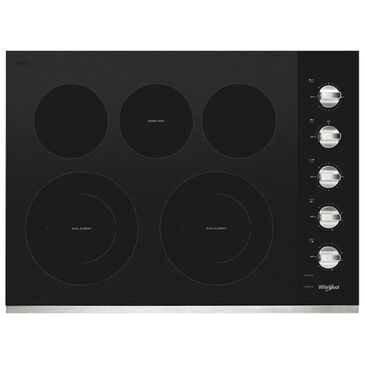 """Whirlpool 30"""" Electric Cooktop Ceramic Top in Stainless Steel, , large"""