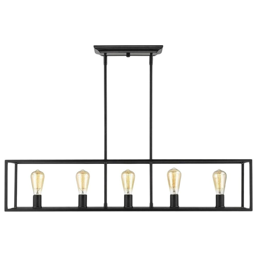 Golden Lighting Wesson 5-Light Linear Pendant in Black, , large