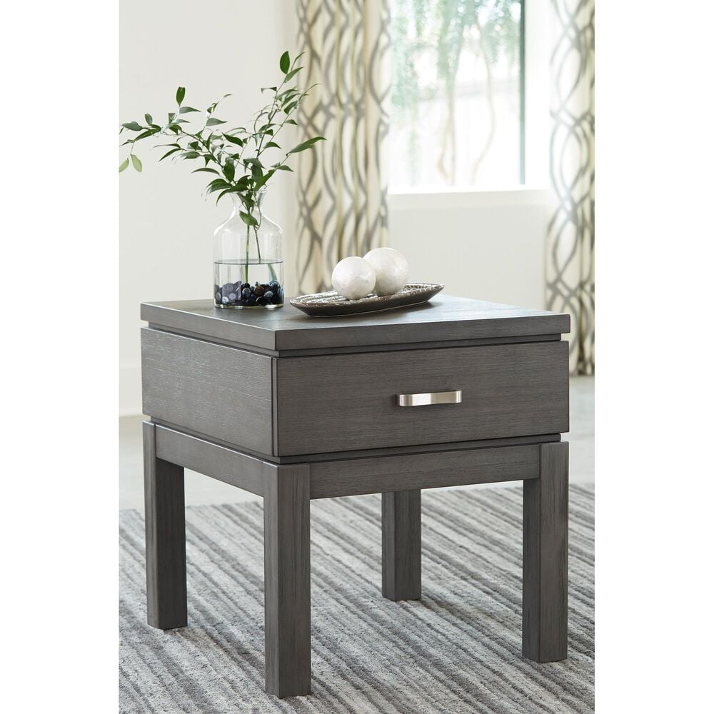 Signature Design by Ashley Caitbrook Rectangular End Table in Weathered Gray, , large