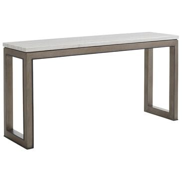 Lexington Furniture Ariana Vernay Console Table in Charcoal Gray and White Marble, , large