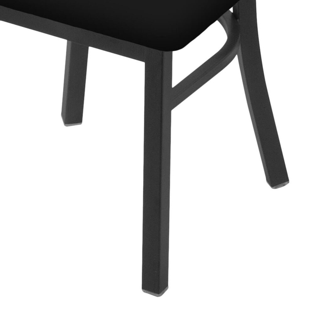 """Holland Bar Stool 620 Catalina 18"""" Chair with Pewter and Black Vinyl Seat, , large"""
